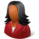 Office-Customer-Female-Dark-icon